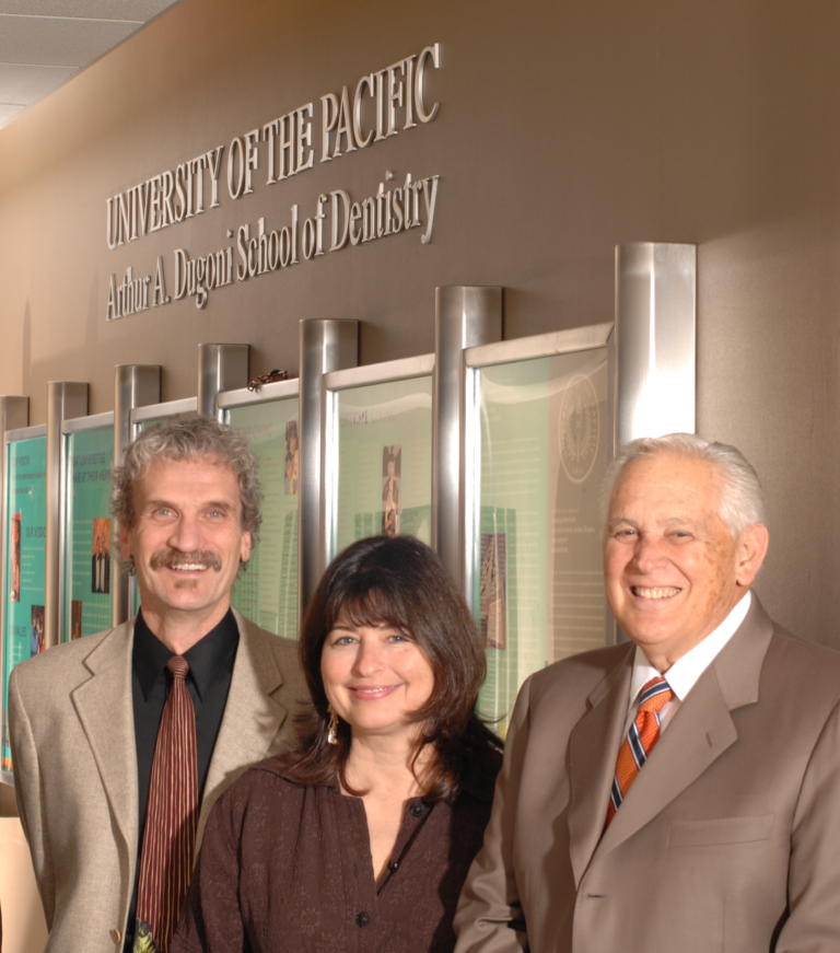 Dr. Fredekind with his wife and Dr. Dugoni