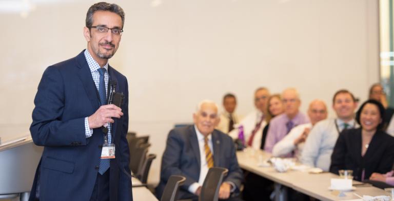 Dean Nader Nadershahi speaking